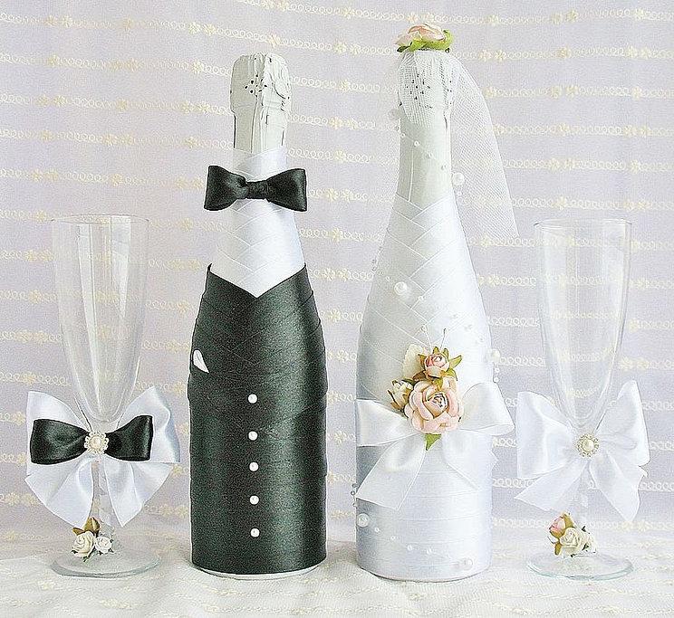 Шампанское для свадьбы своими руками фото