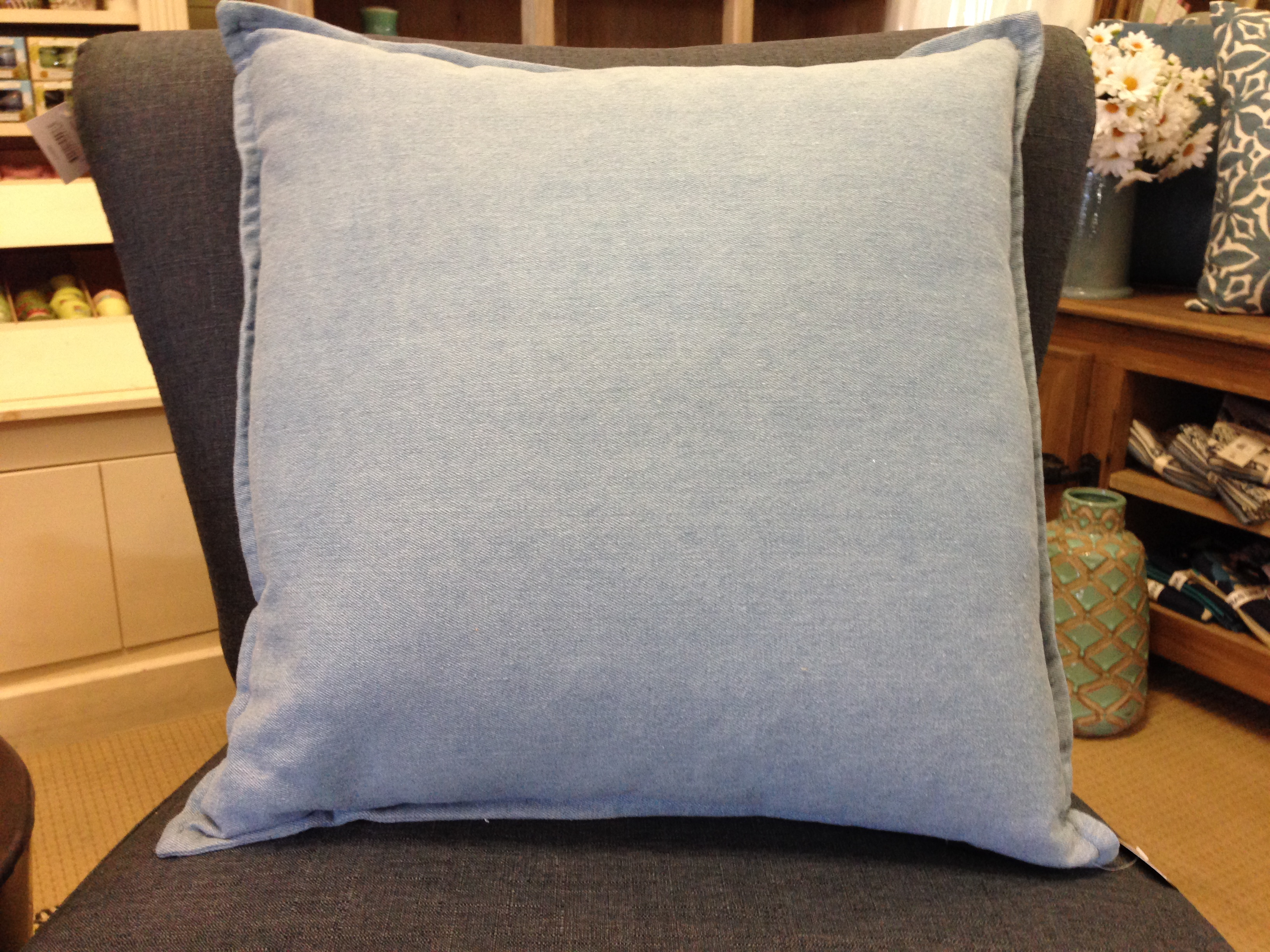 denim cushion the miners couch