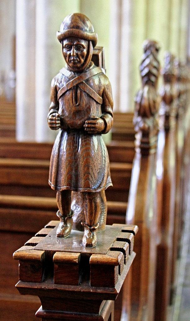 Stpeterpaulswaffham carving of the pedlar swaffham