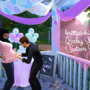 When I Started Making CC, One Of The First Things I Ever Made Was A Baby  Shower Stuff Pack With Decorative Items For A Baby Shower.