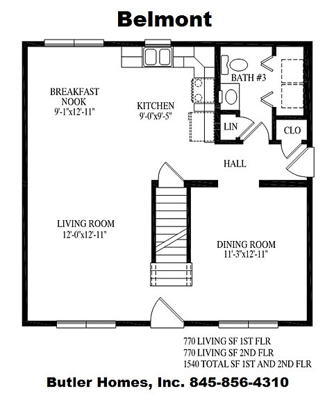 Butler homes inc modular homes ny custom homes ny for Belmonte builders floor plans