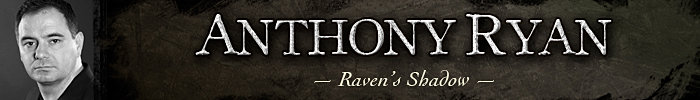 Anthony Ryan Author Raven's Shadow Blood Song Tower Lord