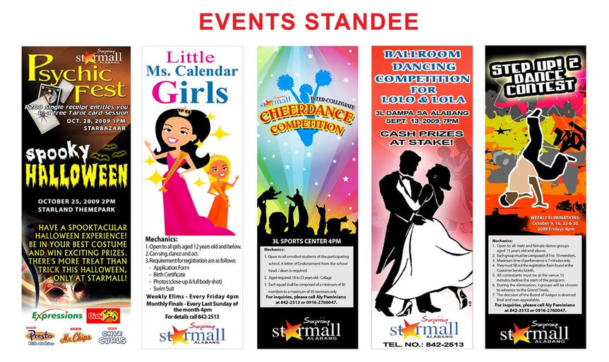STARMALL EVENTS STANDEE