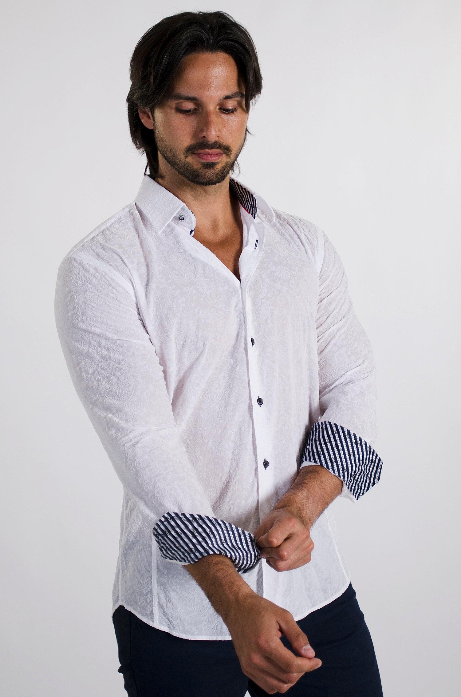 Men 39 s dress shirts men 39 s european dress shirts via uomo for European mens dress shirts