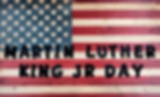Martin Luther King JR Day background wit