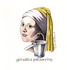 Girl with a Pail Earring