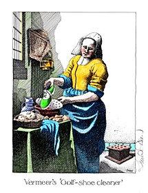 Vermeer's Golf-shoe Cleaner