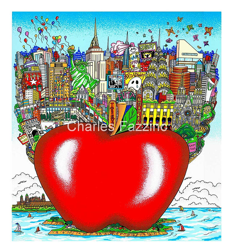 Charles Fazzino Cityscape
