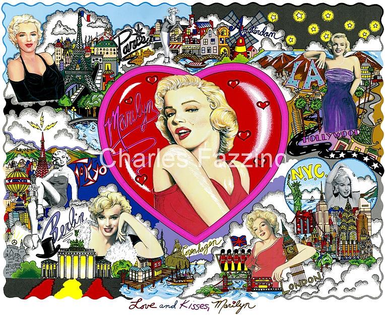 Charles Fazzino Love Kisses