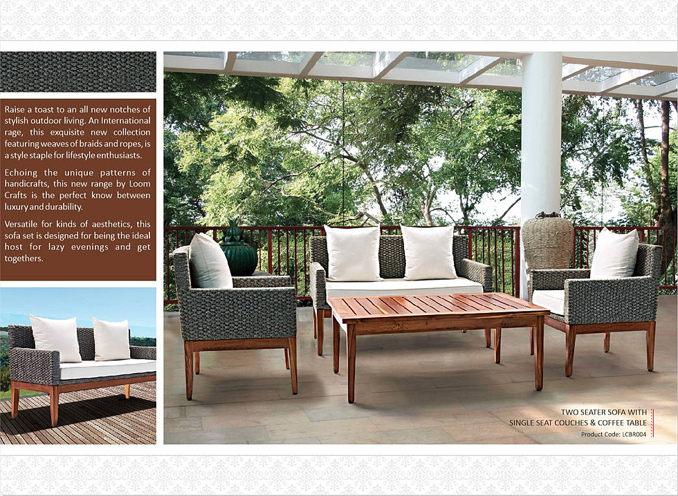 Loom crafts outdoor braid rope furniture for Outdoor furniture india