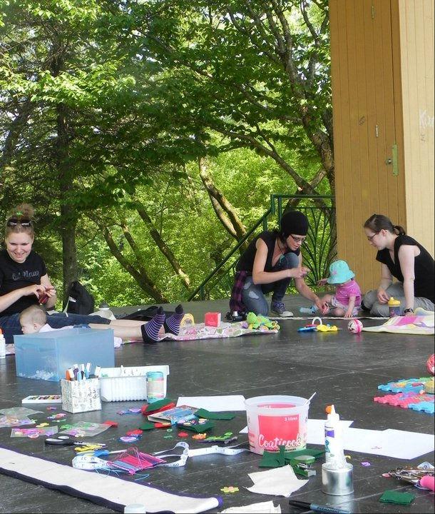 Atelier créatif en plein air