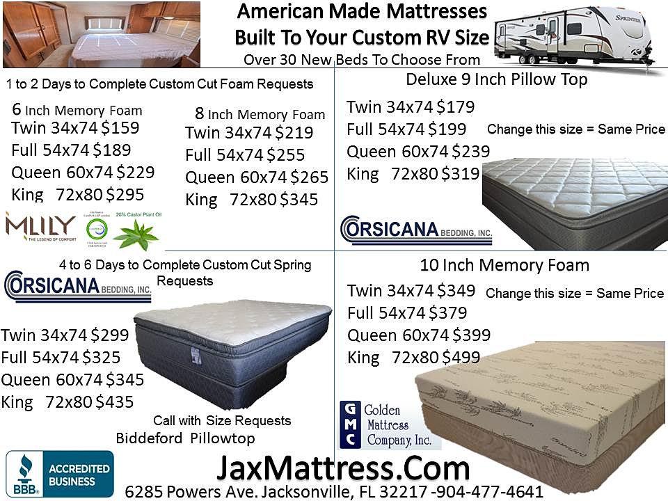 rv camper mattress futons jacksonville fl roselawnlutheran