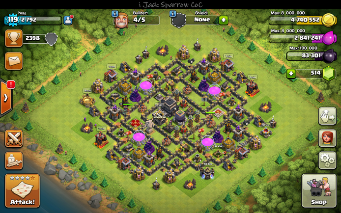 Town hall 9 farming base new update bomb tower otc 13 2016 bases
