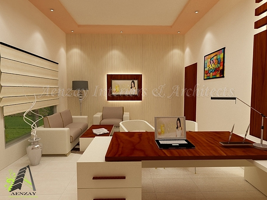 Golden pearl for Director office interior design