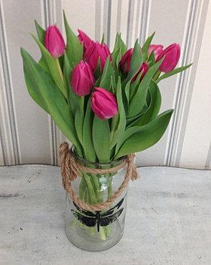 jarra de tulipanes eur