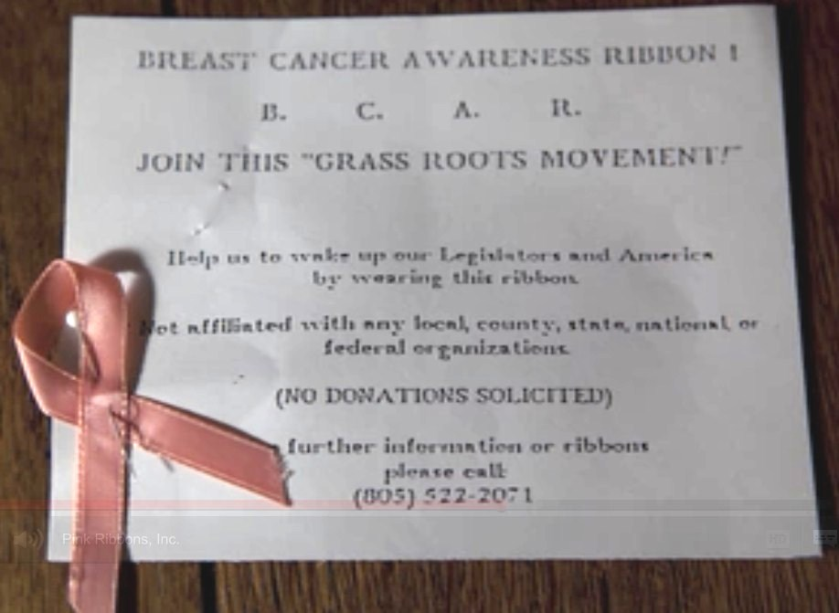 breast cancer documentary pink ribbon