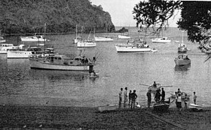 Boats in Southeast Bay Mayor Island