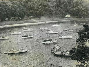 Boats in South East Bay Mayor Island
