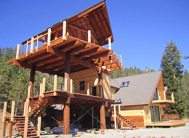 Lookout home plans house design plans for Fire tower cabin plans