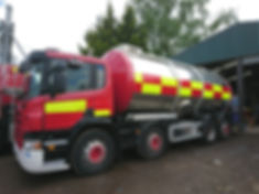 Our 20000 litre hot water bowser can be used for mass decontamination or Warm Rain.