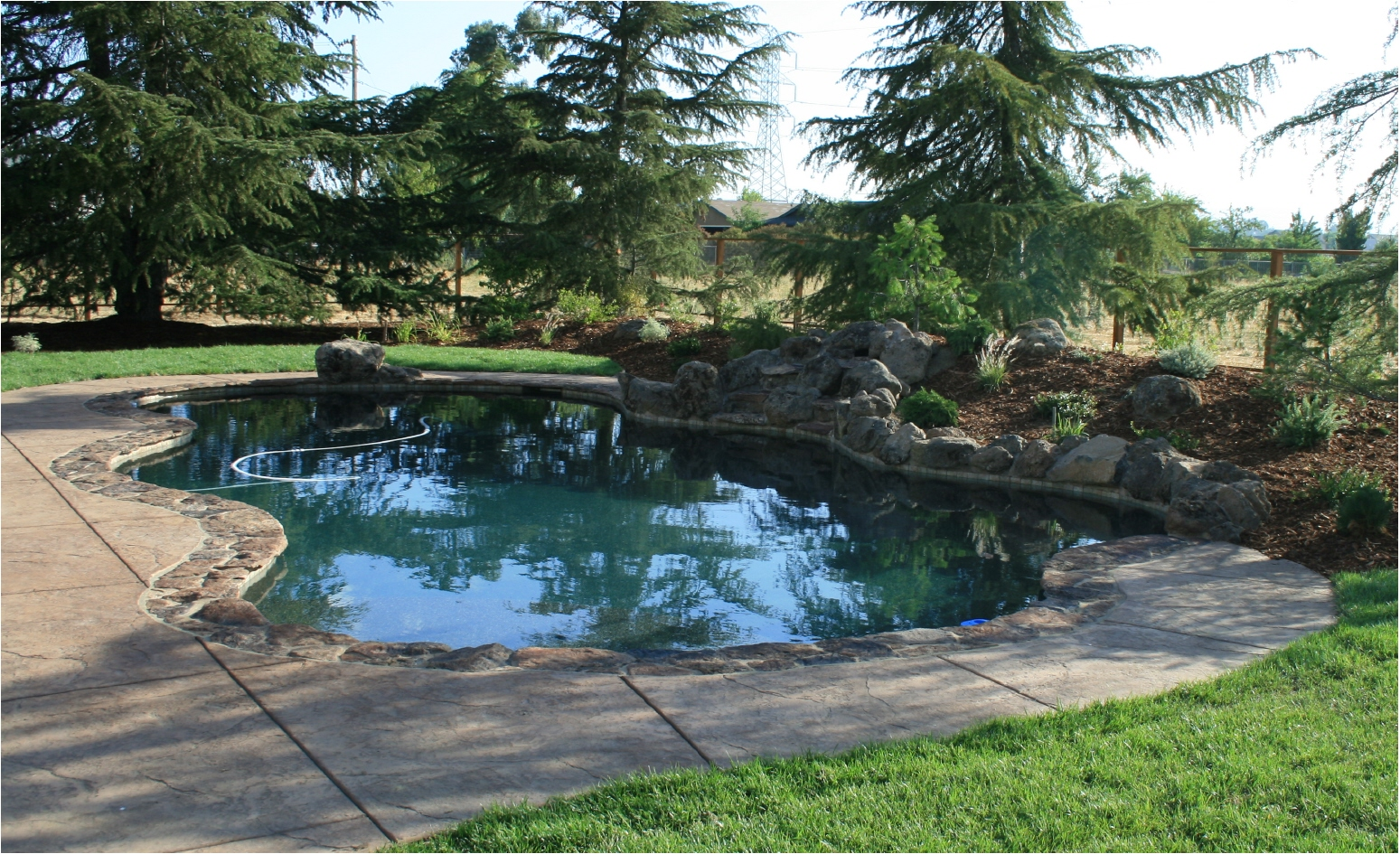 exterior-designs | Freeform Pool with Waterfall