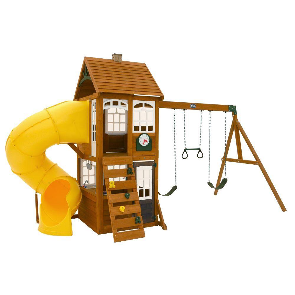 Creston Lodge Wooden Playset By Cedar Summit Wooden