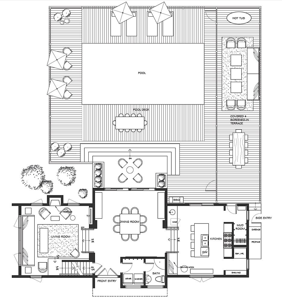 Floor plans for 2nd floor terrace design