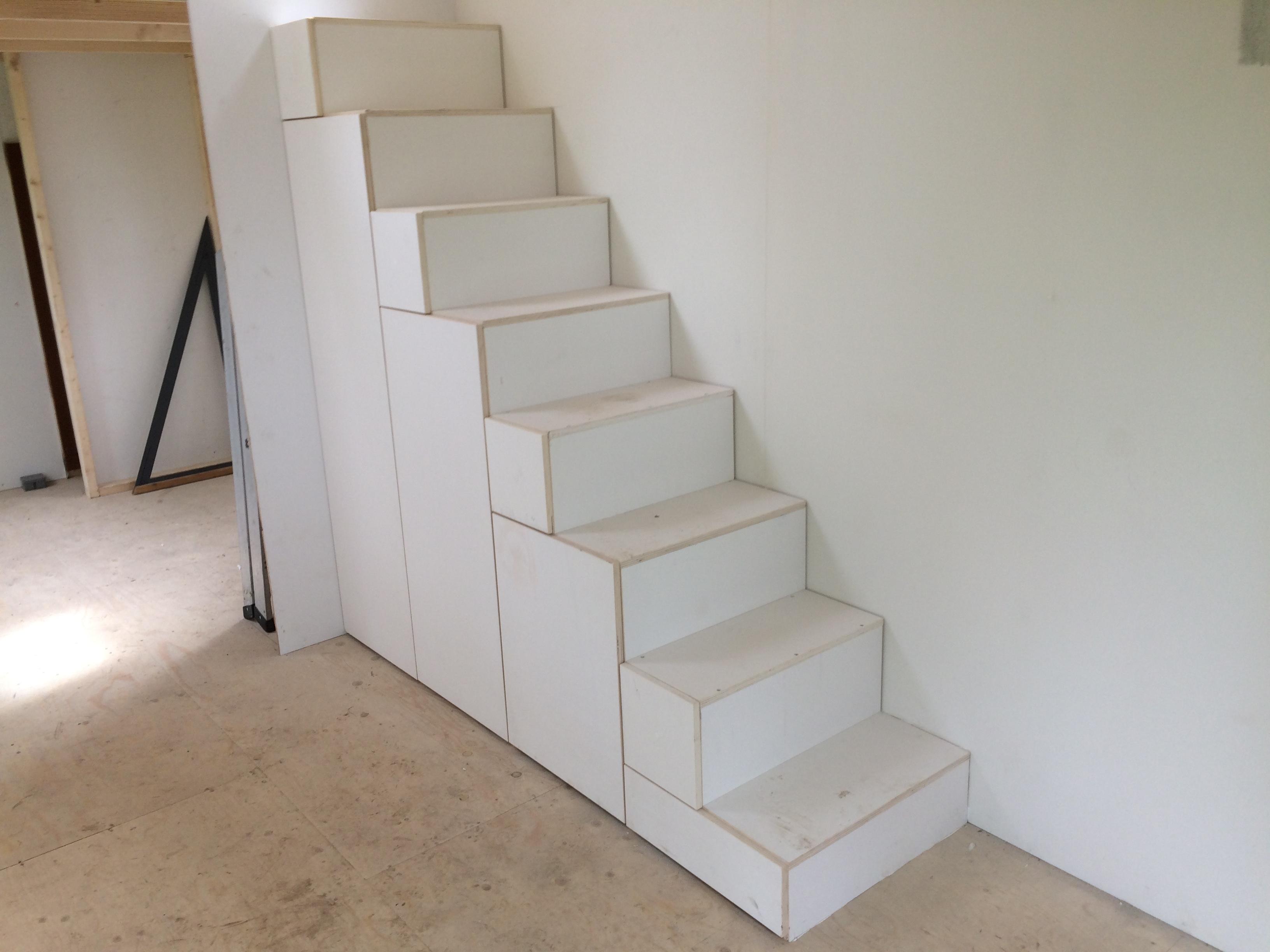 Lades In Trap : Open trap dichtmaken en voorzien van kast en lades werkspot
