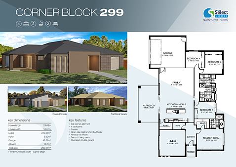 House Design For Corner Block House And Home Design