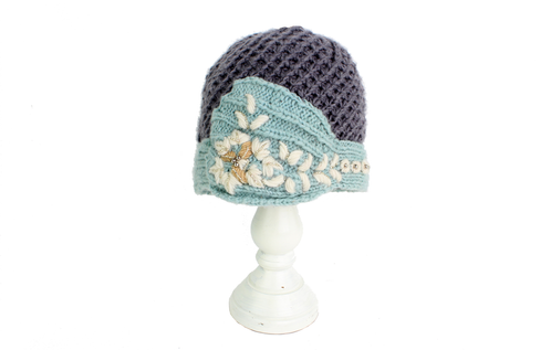Ellie Vintage Hat- Gray | French Knot