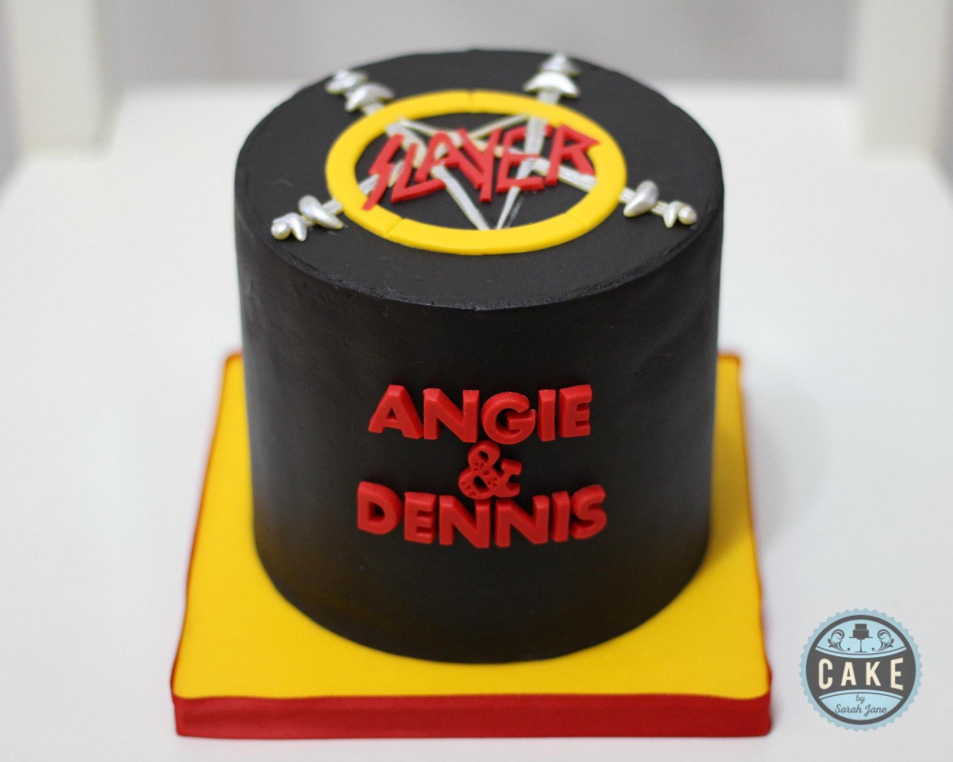Cake By Sarah Jane Special Occasion - Slayer birthday cake