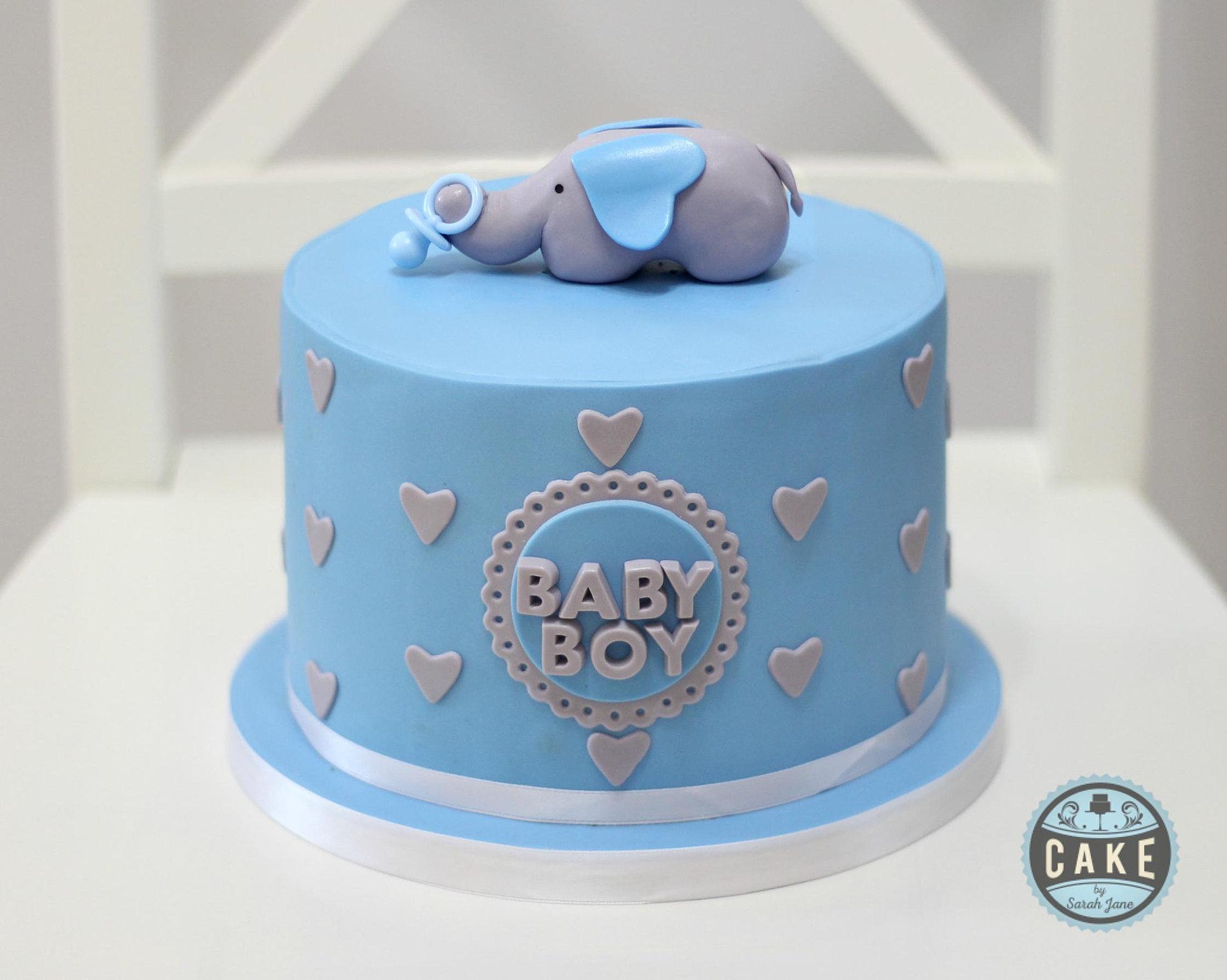 Baby Shower Elephant Cake Custom