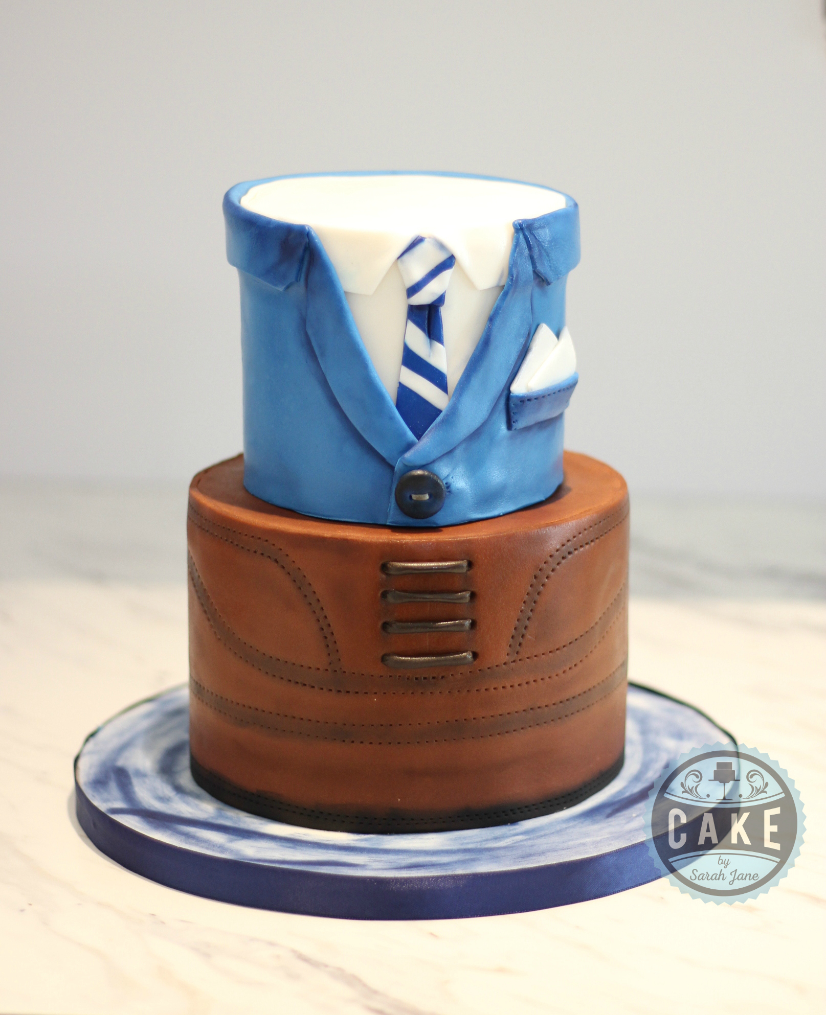 Suit Dress Shoe Cake Cake by Sarah Jane Custom Cake Decorator