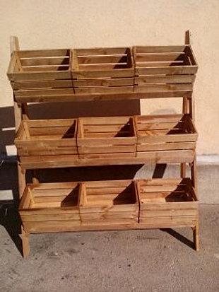 Muebles tiendas - Estanterias rusticas de madera ...