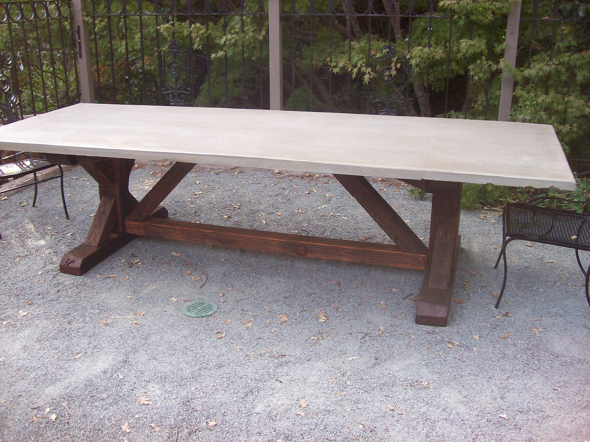 ... Amico Salvaged and Reclaimed Wood Furnishings | Concrete Top Table
