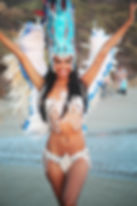 Samba dancer and model Suellen Soares at ESPN