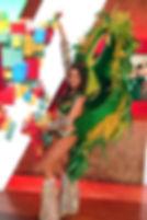 Samba dancer and model Lindsey Santos at ESPN