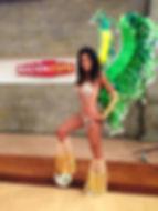 Samba dancer and model Sonaria Curtis