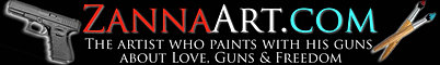 the Artist who paints with his guns