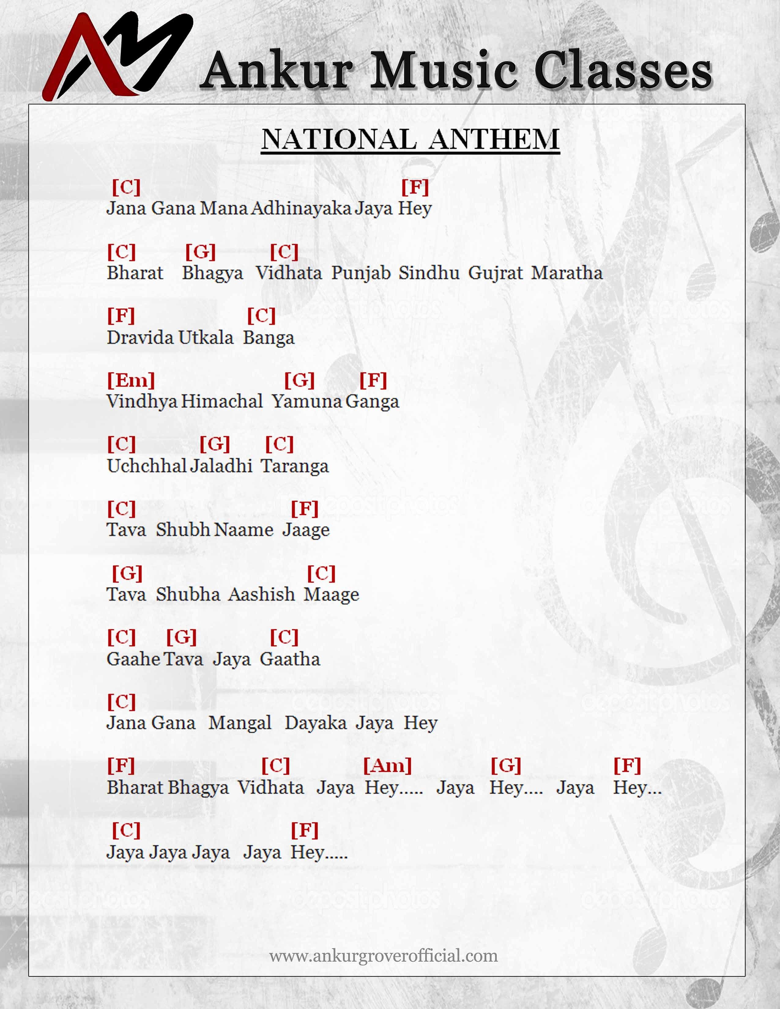 Ankur grover singer music teacher official site national indian national anthem hexwebz Choice Image