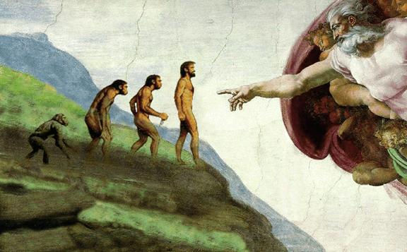 Creation meeting religion science