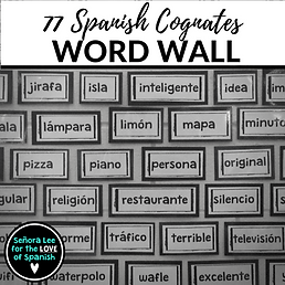 Spanish resources senora lee for the love of spanish cognate word wall m4hsunfo