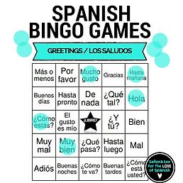Spanish resources senora lee for the love of spanish greetings bingo m4hsunfo