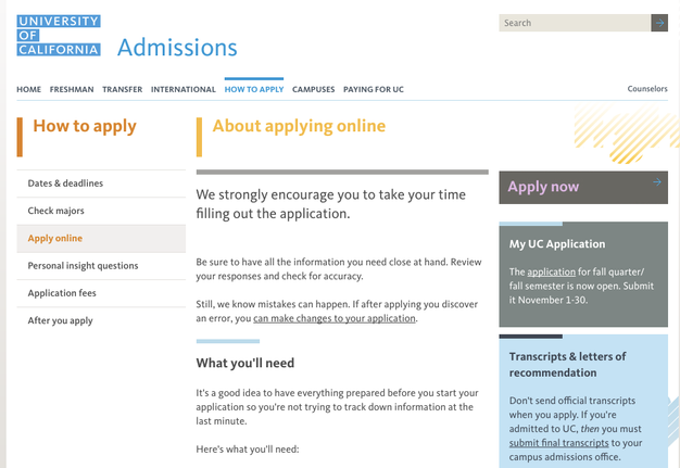 uc admission essay help Free essay examples, essay formats, writing tools and writing tips  the uc  insight questions are meant to help the admissions office decide if you're a.