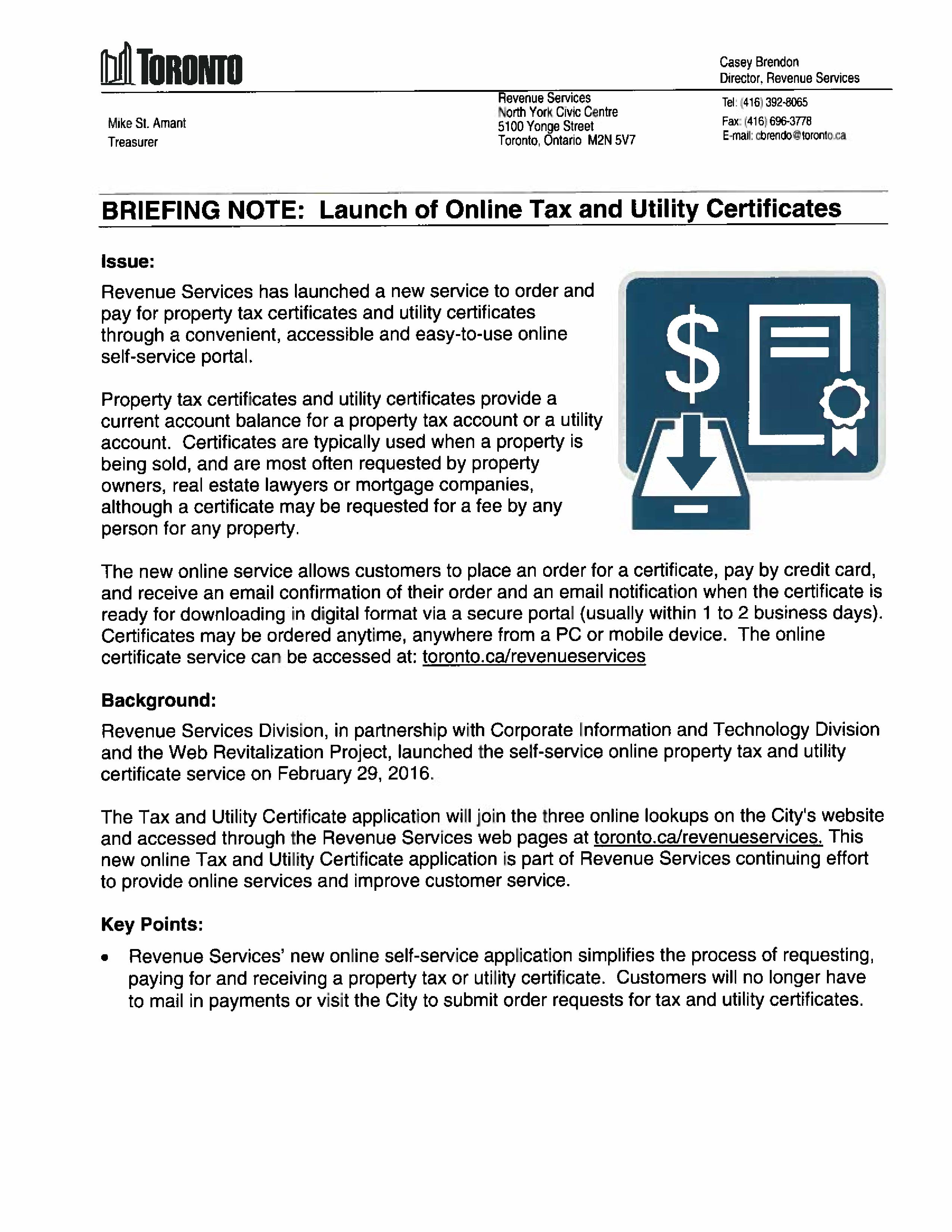 Online tax and utility certificate service deputy mayor denzil online tax and utility certificate service deputy mayor denzil minnan wong xflitez Gallery