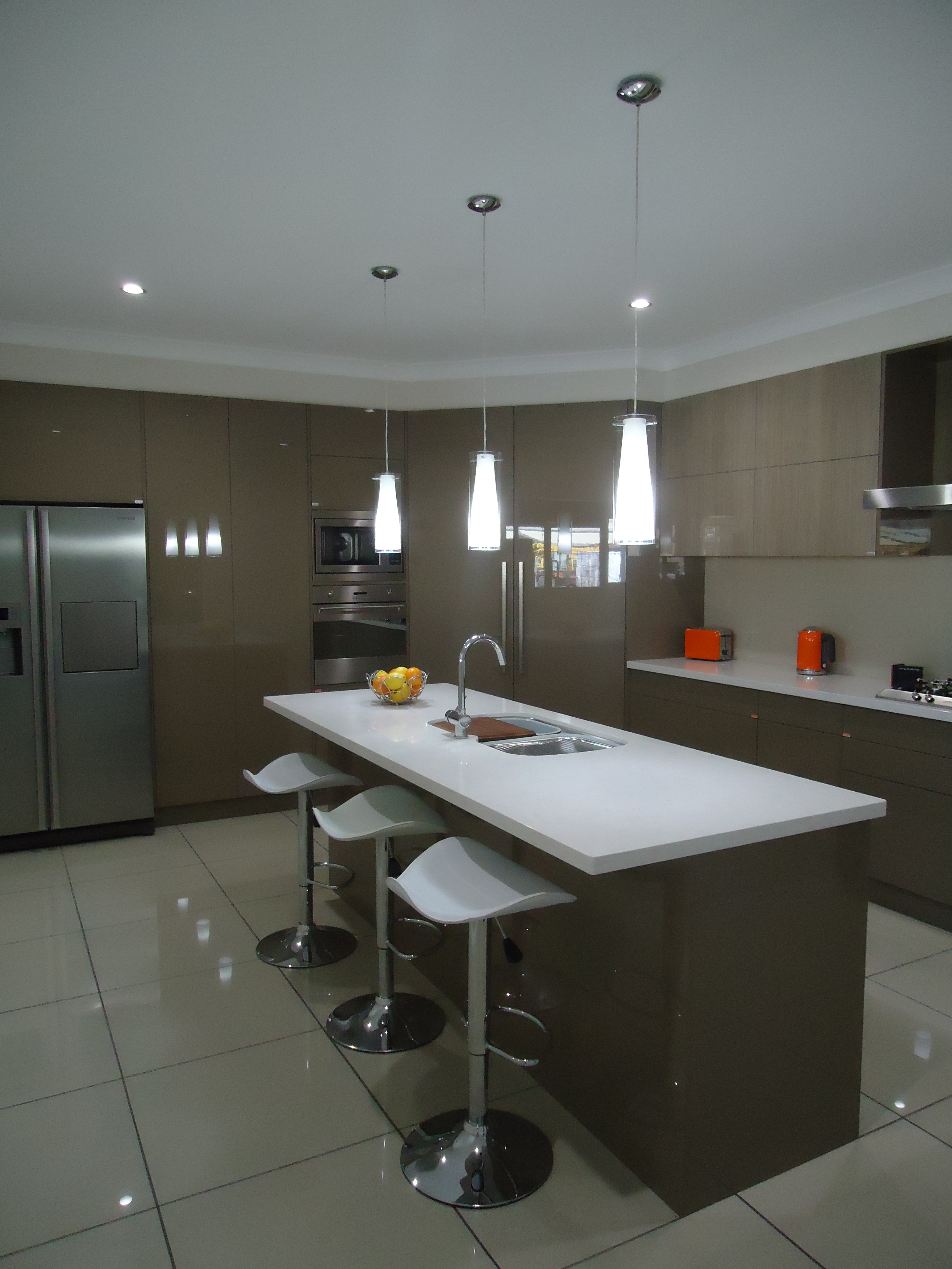 smw kitchens pty ltd pendant lights over island bench