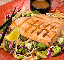 Grilled Salmon Teriyaki Salad from Happi House