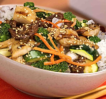 Happi House Teriyaki Chicken Beef Bowl