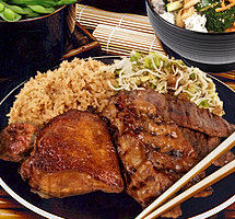 Happi House Big Teriyaki Trio Plate