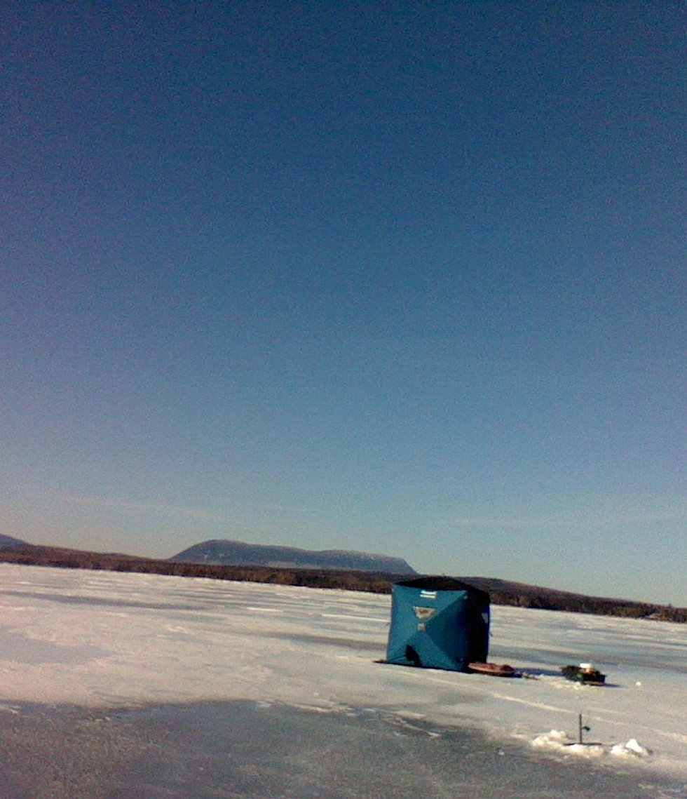 Fishtamer guide service for Ice fishing maine